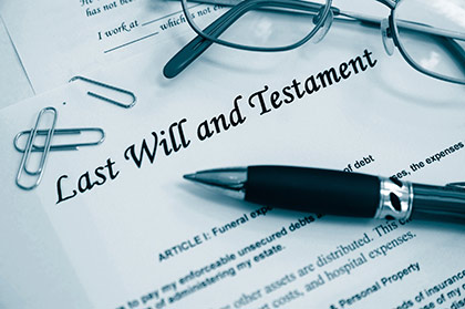 Probate; last will and testament